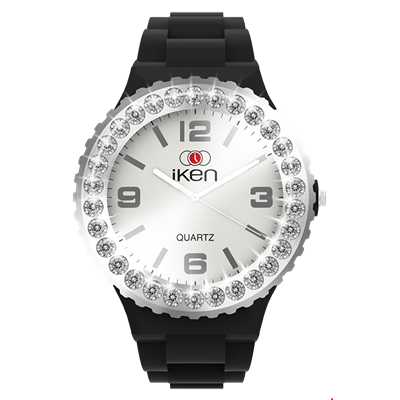 Picture of Black and White Complete with White Crystal Bezel