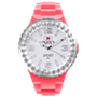 Picture of Coral and White Sport Complete Watch with White Crystal Bezel