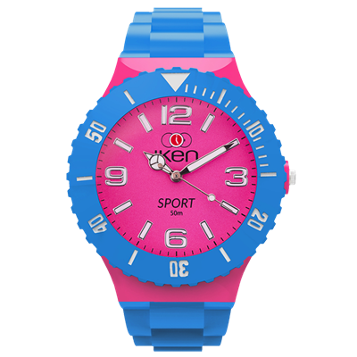 Picture of Light Blue and Pink Sport Complete Watch