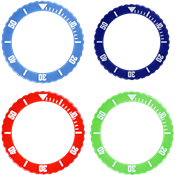 Picture of Light Blue, Navy, Red and Green Bezel PrePack