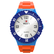 Picture of Orange, Light Blue, Navy and White Complete Watch