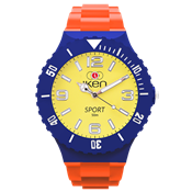 Picture of Orange, Navy and Yellow Sport Complete Watch