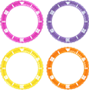 Picture of Pink, Lilac, Yellow and Orange Bezel PrePack