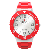 Picture of Red and White Complete Watch