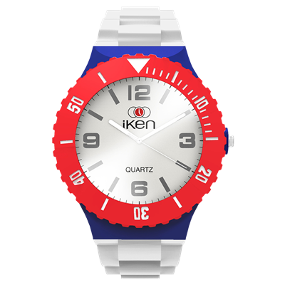 Picture of White, Navy and Red Complete Watch